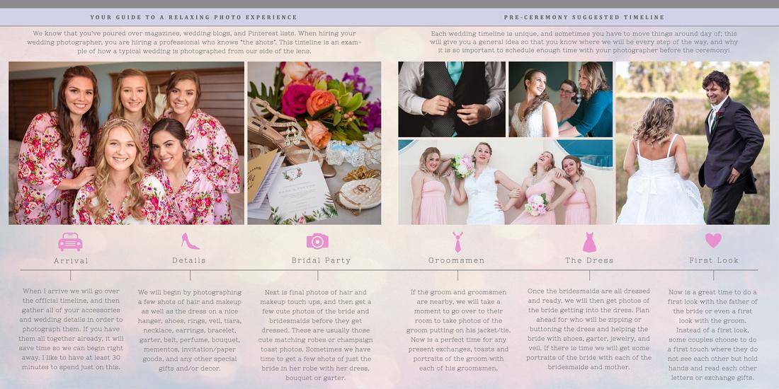 Pre-ceremony timeline
