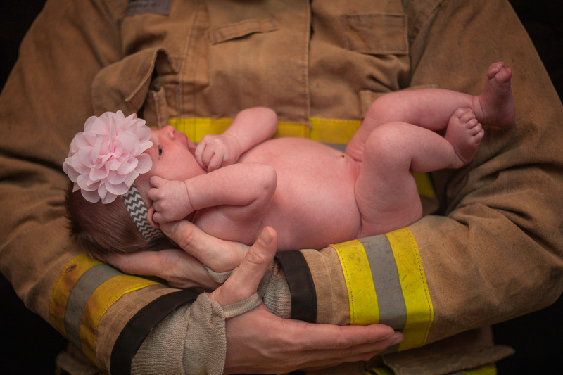 """Newborn portraits"" ""Newborn photography"" ""Newborn photographer DeLand"" ""Newborn photographer Central Florida"" ""Florida newborn photographer"" ""Orange County Fire Department"" ""Fire & Iron Motorcycle Club"""