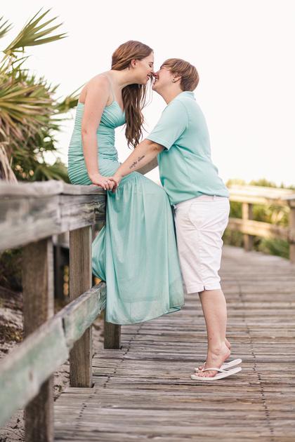 """engagement photographer"" ""beach engagement photos"" ""Florida photographer"" ""Daytona Beach photographer"" ""Ponce Inlet Photography"" ""couples photography"" ""beach engagement"" sunset beach couple LGBT ""LGBT photographer"" ""LGBT Florida"""