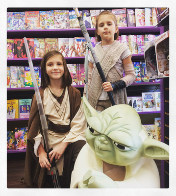 """Comic Central"", ""Free Comic Book Day"", ""Sanford Comic Book Store"", ""Star Wars"""