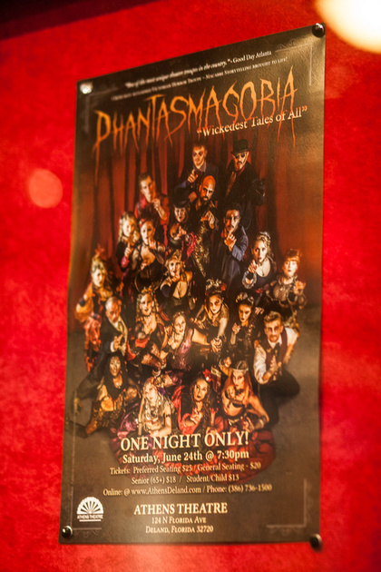 """Phantasmagoria"", ""Wickedest Tales of All"", ""Wicked Little Tales"", ""Athens Theater"", ""Deland FL"", ""Sideshow"", ""DiDonna Productions"","