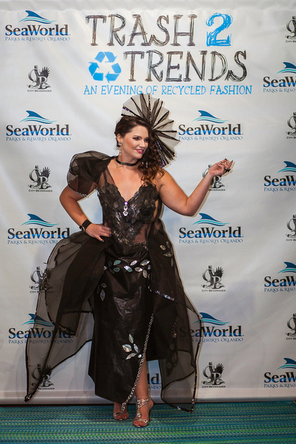 """Trash 2 Trends"", ""Keep Orlando Beautiful"", Trashion, Runway, fashion, ""Orlando Fashion"", ""Orlando Florida"", Florida, Recycle, Reuse, Unconventional Material, ""Sea World"""